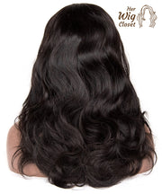 Lace Front Wig Body Wave Brazilian Wavy Virgin Human Hair Unprocessed Natural Color 180% Density