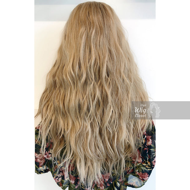 "Abigail | 24"" Ash Blonde Lace Wig Long Wavy Her Wig Closet"