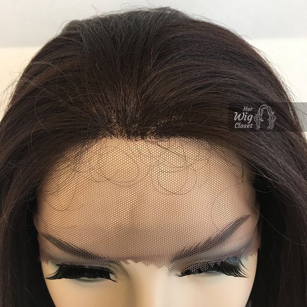 "Alexa |  Dark Brown Lace Front Wig 16"" Her Wig Closet"