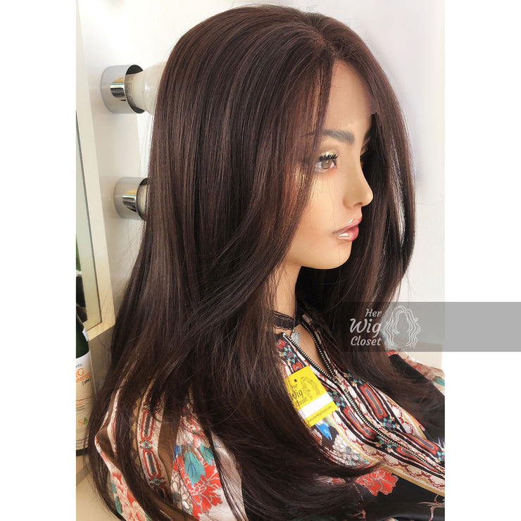 "Amelia | 20"" Dark Brown Lace Front Wig Her Wig Closet"