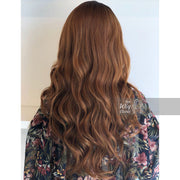 "Cecelia | 30"" Side Part Auburn Brown Wavy Wig Her Wig Closet"