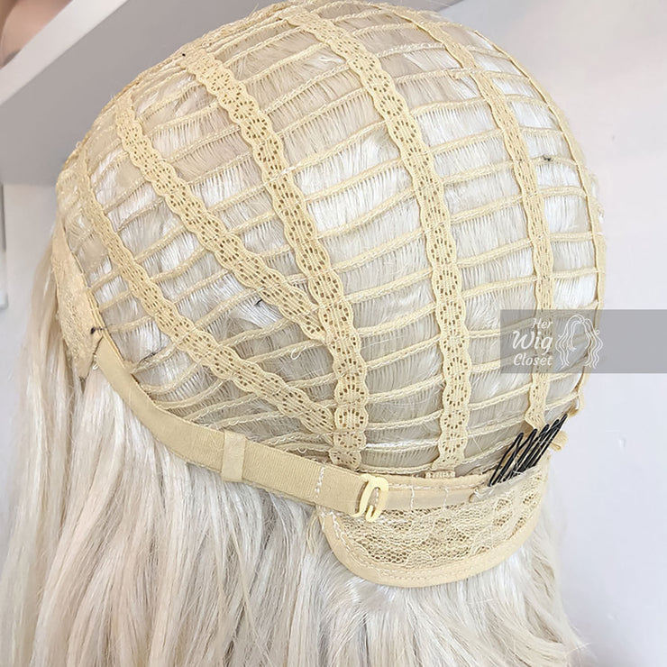 "Daenerys | 32"" Wavy Icy Blonde Synthetic Wig Her Wig Closet"