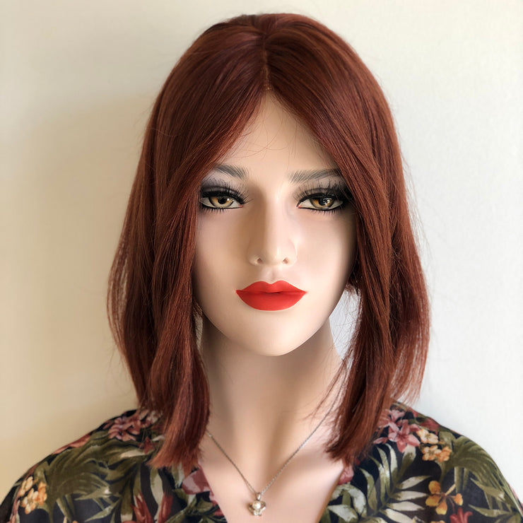 "Her Wig Closet 12"" Straight Irish Red Wig w/ Lace Parting June"
