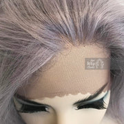 "Kardashian | 24"" Silver Lace Front Wavy Wig Her Wig Closet"