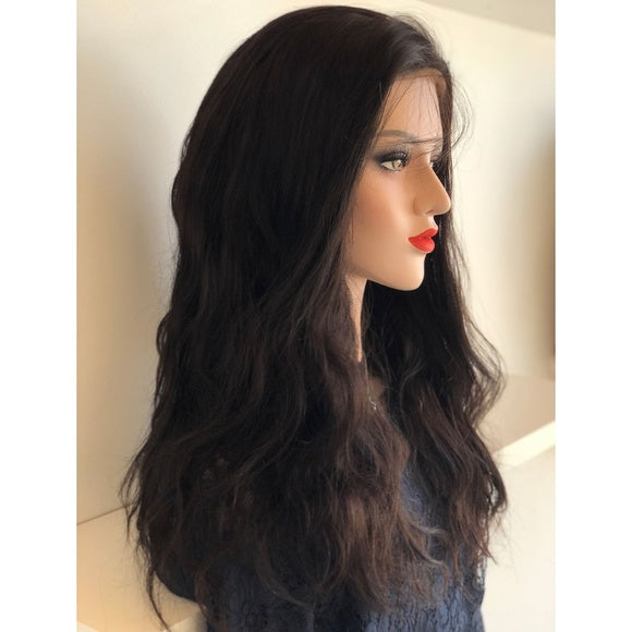 Full Lace 100% Virgin Human Hair Wavy Wig