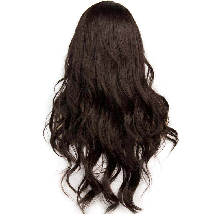 Miranda | Dark Brown Layered Wavy Wig 28""