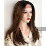"20"" Straight Copper Lace Wig 