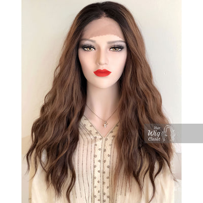 "Shantell | Loose Wave Copper Lace Front Wig 24"" Her Wig Closet"