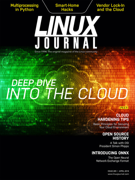 April 2018 issue of Linux Journal