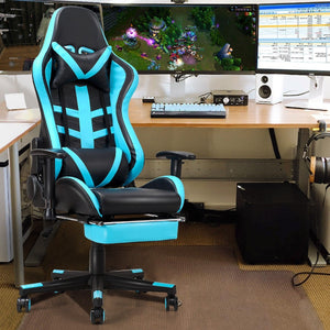 High Back Race Car Style Gaming Chair with Footrest