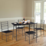 5 pcs Dining Table & 4 Chairs Set