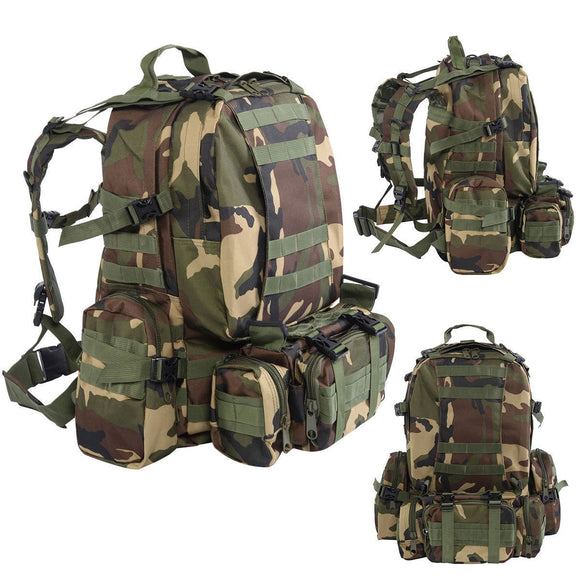 55L Outdoor Military Tactical Camping Backpack