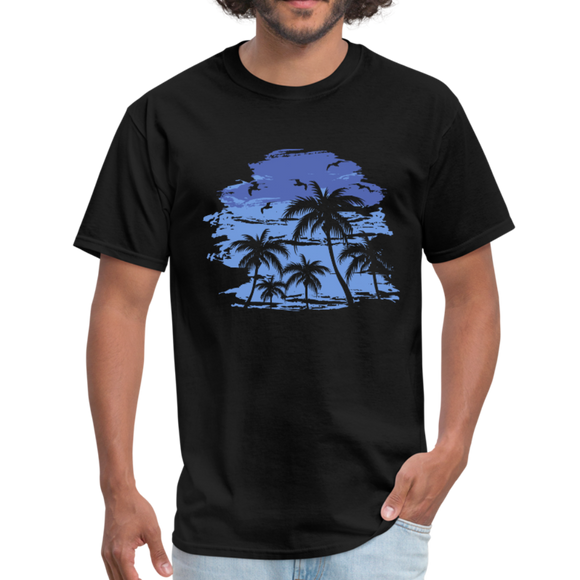 Men's Midnight Beach T-Shirt - black