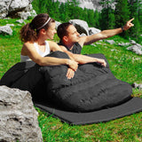 Black 2 Person Waterproof Sleeping Bag with 2 Pillows