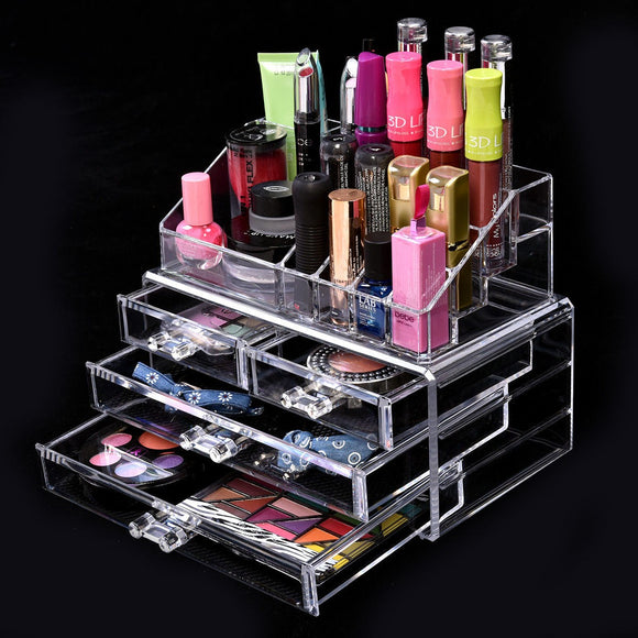 Acrylic Makeup Cosmetic Organizer Storage Unit