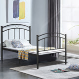Twin Size Black/Silver Metal Bed Frame