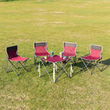 Red Portable Folding Table Chairs Set w/ Carrying Bags
