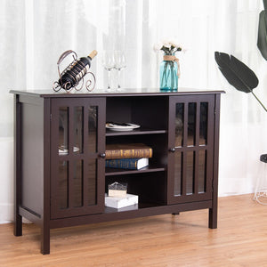 "2 Door Wooden TV Stand Console Cabinet for 45"" TV"