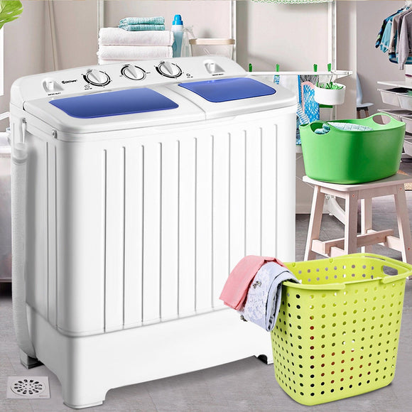 11 lbs Portable Compact Twin Tub Washer & Spinner