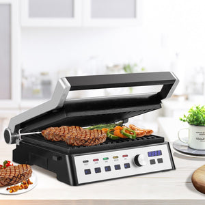 1500 Watt Electric Grill Indoor Grill with Removable Plates