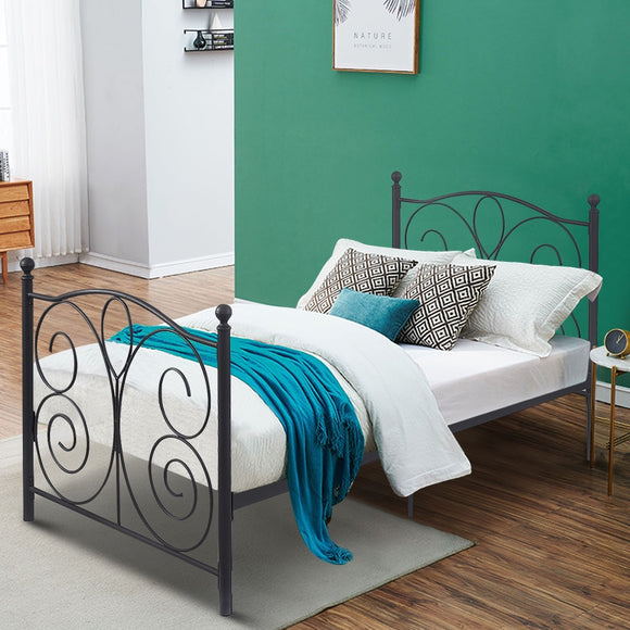 Twin Size Black Butterfly Steel Bed Frame