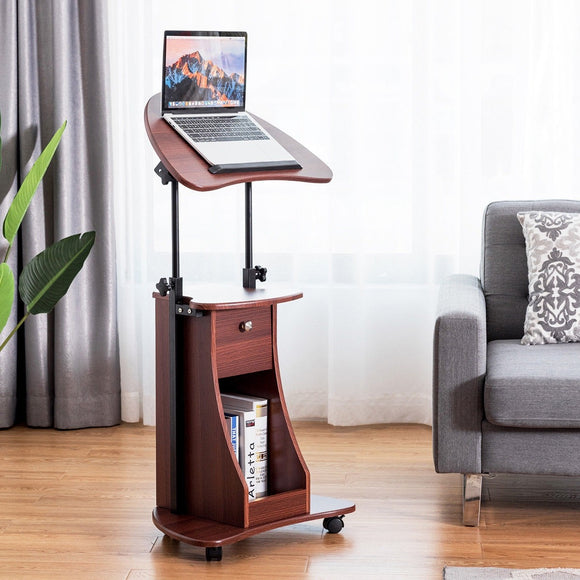Height Adjustable Tilt Top Laptop Computer Desk