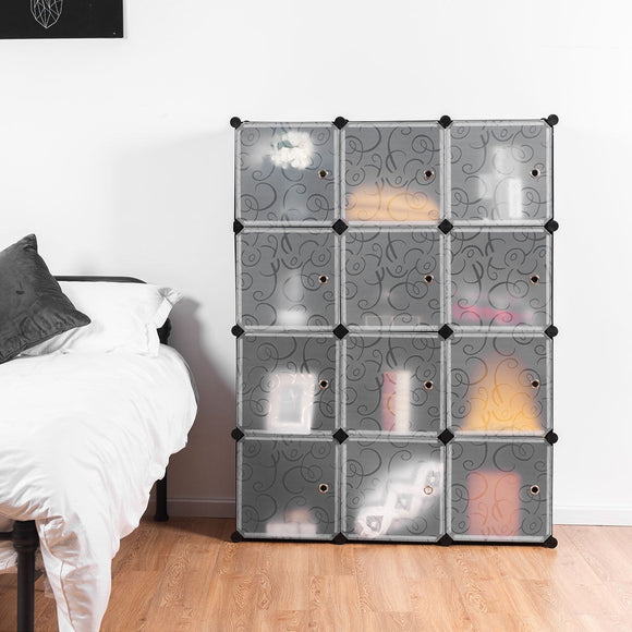 DIY 12 Cube Portable Closet Storage Organizer