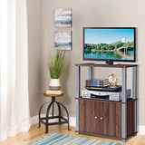 TV Stand Console Display with Storage Cabinet