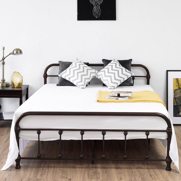 Queen Size Metal Steel Bed Frame