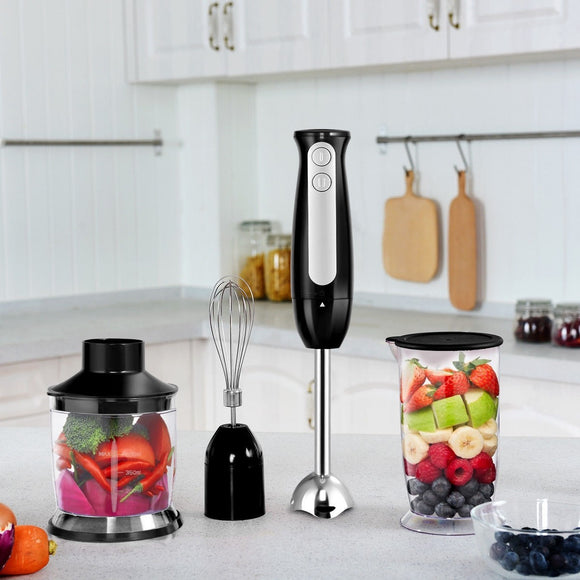 2 Speed 600 W 4 in 1 Electric Immersion Hand Blender Set