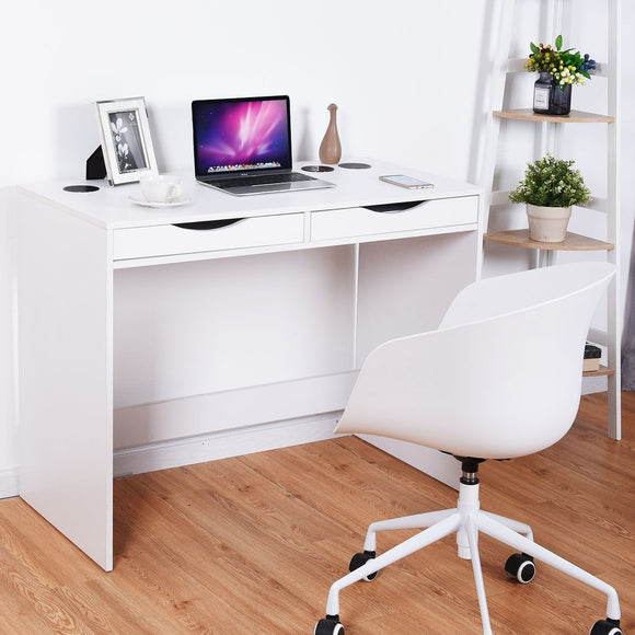 Computer Desk with Built-In Bluetooth Speakers
