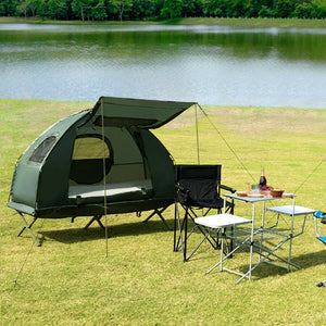2-Person Compact Portable Pop-Up Tent with Air Mattress and Sleeping Bag