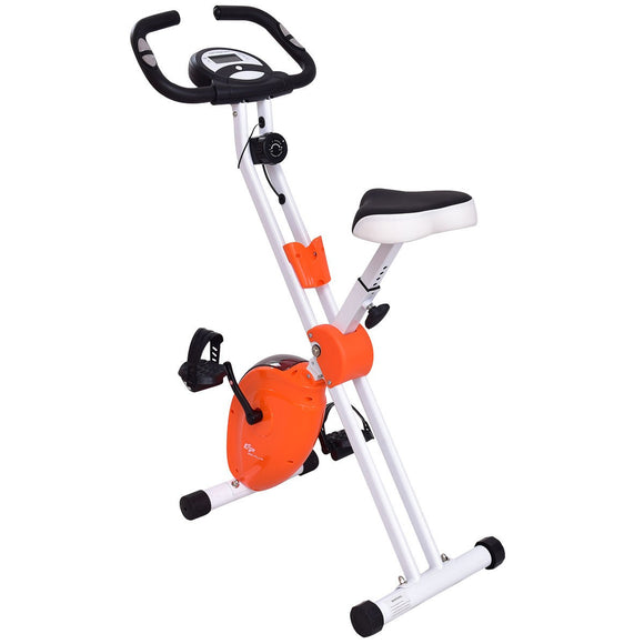 Folding Adjustable Resistance Magnetic Exercise Bike