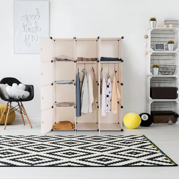 DIY Cube Portable Closet Wardrobe Storage Unit