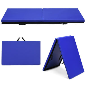 "6' x 24"" x 1.5"" Thick Two-Folding Panel Yoga/Gymnastics Mat"