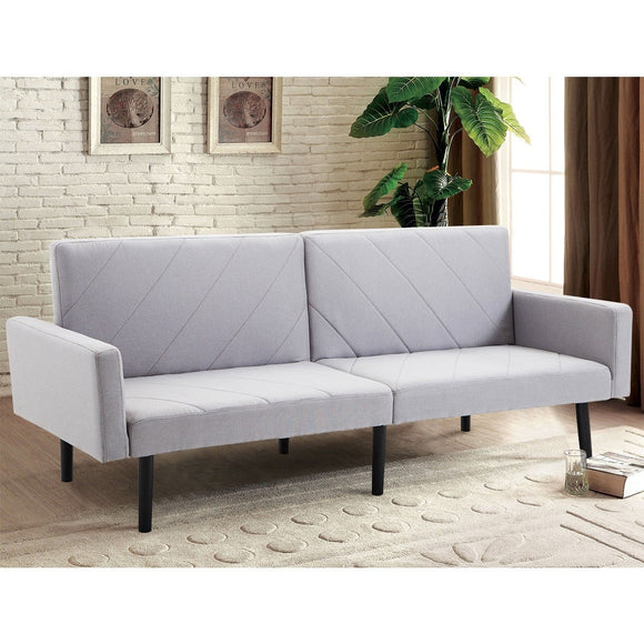 Alan Bay Gray Reclining Futon Sofa Bed