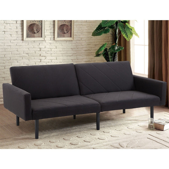 Alan Bay Black Reclining Futon Sofa Bed