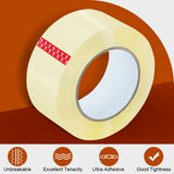 a roll of clear packing tape