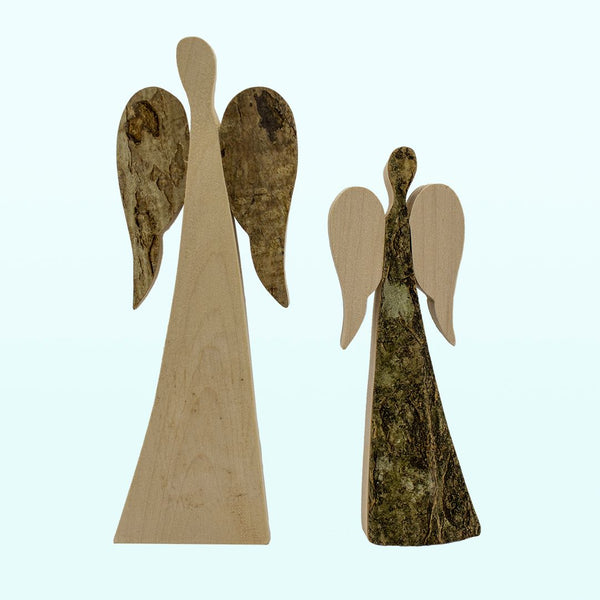Reversible Hand Carved Angels
