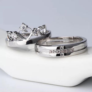 Royal Crown Couple Ring