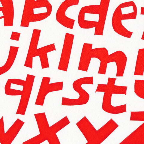 Cyrus Highsmith: Red Lowercase Print