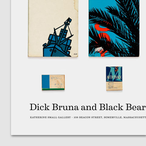 Dick Bruna and Black Bears and Japanese Matchboxes Poster