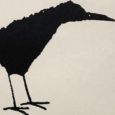 Cyrus Highsmith: Standing Crow Etching