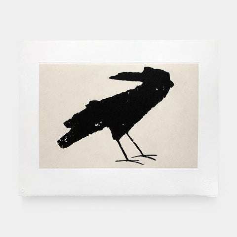 Cyrus Highsmith: Turning Crow Etching