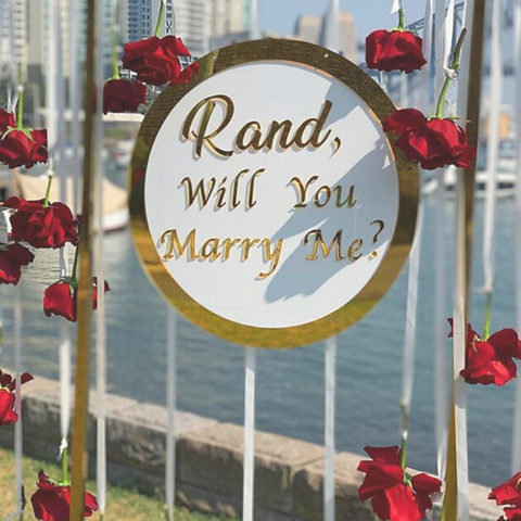 Event Signage Birthday wedding proposing bride to be