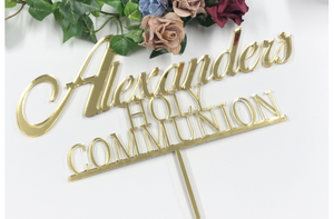 Holy Communion Cake topper