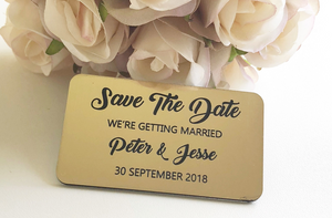 save the date name plaque
