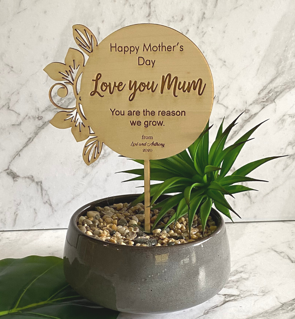 Mother's Day Bamboo Planter Sticks