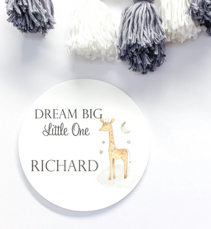 PERSONALISED DREAM BIG NAME PLAQUES