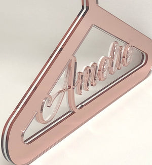 Personalised Mirror Acrylic Dress Hanger PLAIN model